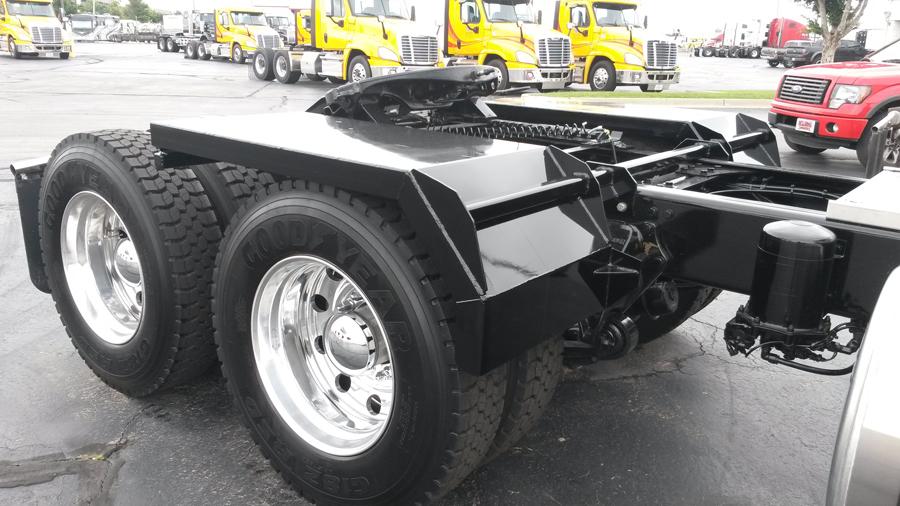 Custom Semi Truck Fenders : Custom thermaflow cooler and half steel fenders